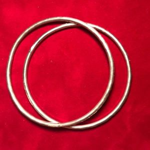 Sterling Silver Bangles, hand Wrought, NEW